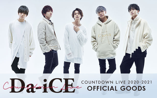 Da-iCE COUNTDOWN LIVE 2020-2021 OFFICIAL GOODS